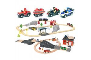 Велика дерев'яна залізниця PLAYTIVE Junior XL 120 елементів Німеччина