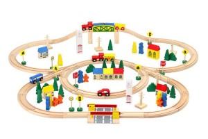 Дерев'яна залізниця 100 елементів Польща