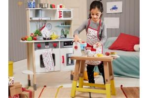Дитяча дерев'яна кухня PlayTive Junior з годинником Німеччина