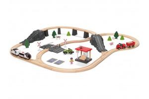 Дерев'яна залізниця 70 елементів PlayTive (Brio, Hape, Viga Toys, Ikea Lillabo, Edwone, Doris)