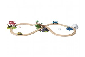 Дерев'яна залізниця Around World 57 елементів PlayTive Junior