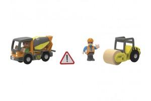 Будівельний майданчик, бетономішалка та бульдозер для залізниці Playtive Junior