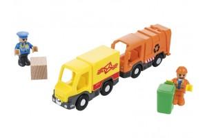 Автосервіс, Поштова машина та сміттєвоз для дерев'яної залізниці Playtive Junior