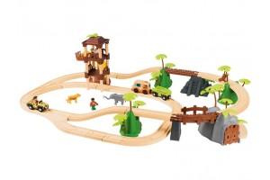 Дерев'яна залізниця Джунглі  3,7м 45 елементів PlayTive Junior