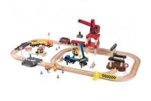 Дерев'яна залізниця Будівельний майданчик  3,8м 67 елементів PlayTive Junior