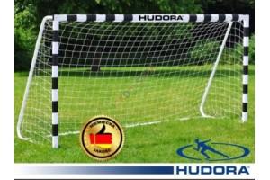 Футбольні ворота Hudora 300x160x90 см + сітка Німеччина