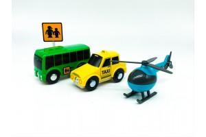 Ігровий набір автобус, таксі, гелікоптер PlayTive Junior