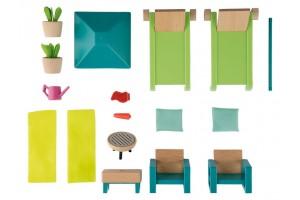 Набір садових меблів PLAYTIVE® для лялькового будинку Німеччина