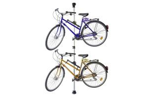 Телескопічна стійка-вішалка для 2-х велосипедів
